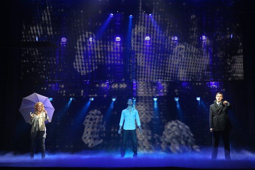 KATIE POSTOTNIK, STEVEN GRANT DOUGLAS, ROBBY HALTIWANGER, GHOST THE MUSICAL TOUR. © JOAN MARCUS 2013