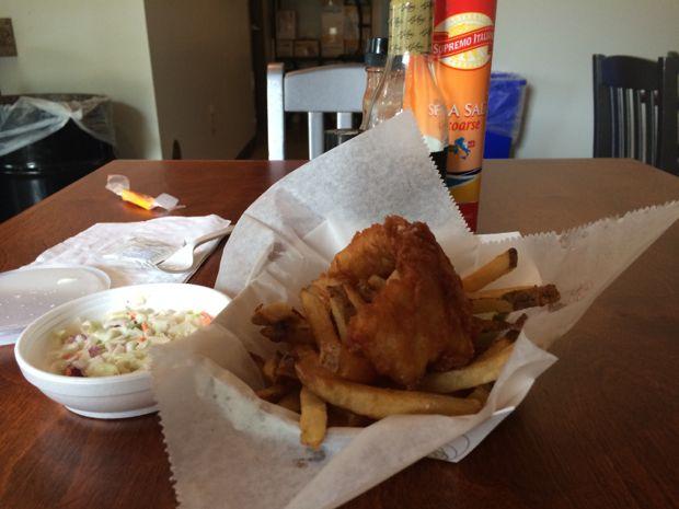 Cod value basket at Mac's Fish & Chips.