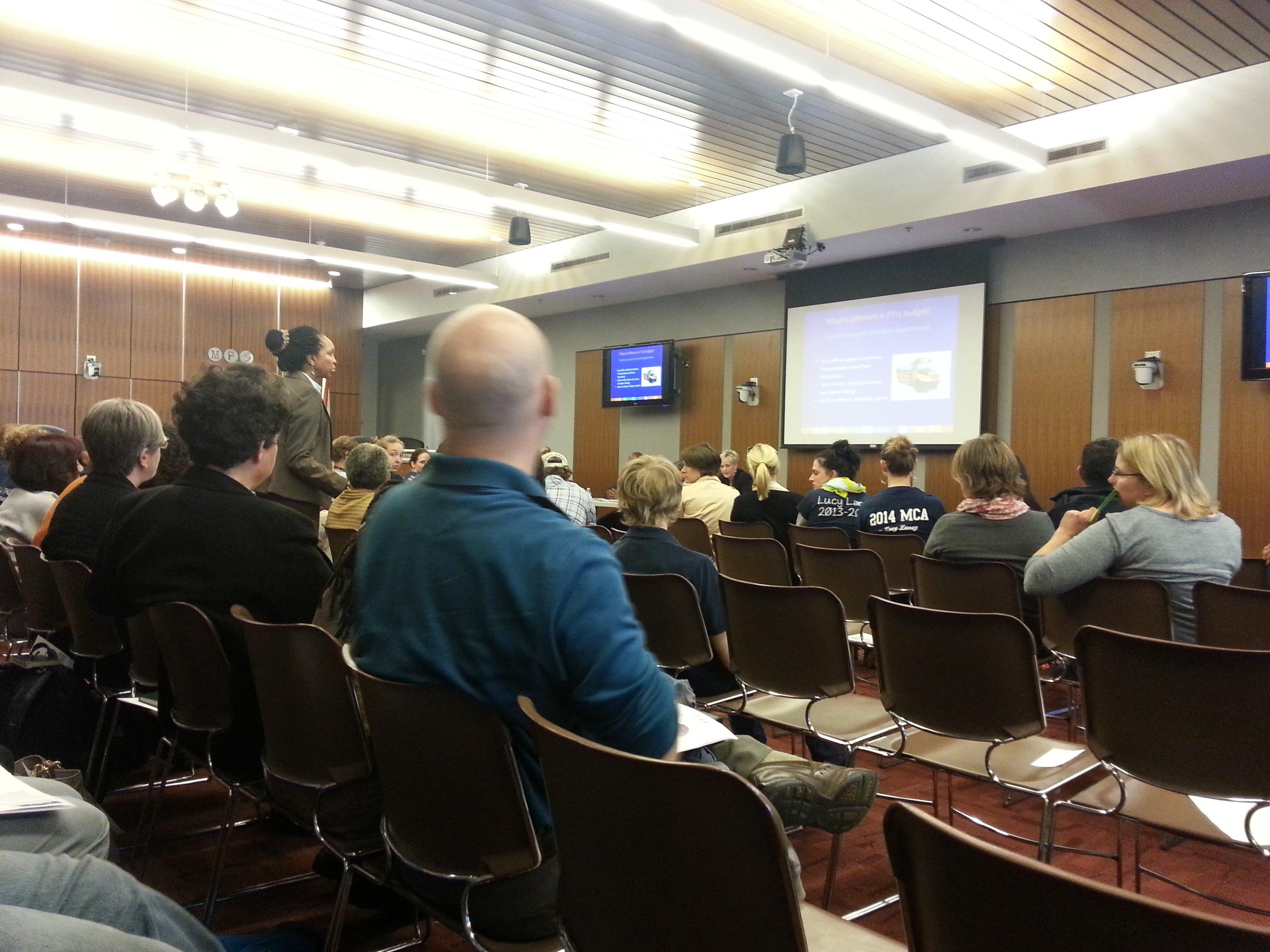 Minneapolis Public Schools community engagement session (Photo by Sarah Lahm)