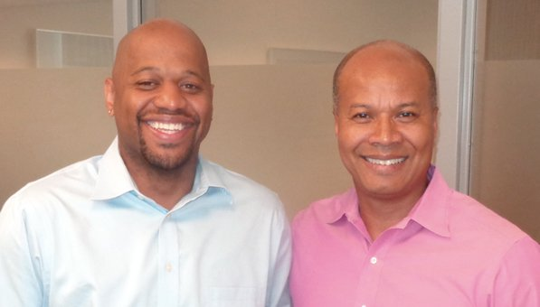 (Photo by Charles Hallman) L-R: Michael Walker and Michael Goar
