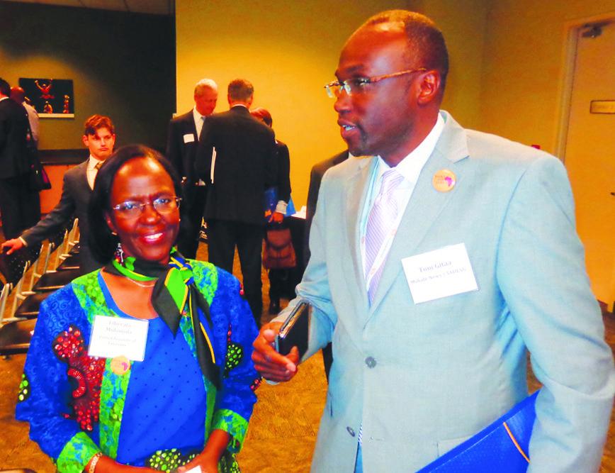 Liberata Mulamula (l) and Tom Gitaa (Photos by Charles Hallman)