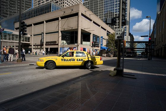 A taxi in Minneapolis; image from City Pages.