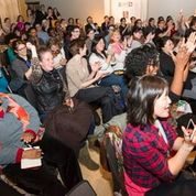 The audience responds at the BUST Magazine reading at Open Book in Minneapolis on April 10, 2015. All photos accompanying article by Anna Min of Min Enterprises Photography LLC, used courtesy of the Loft Literary Center.