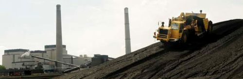 Photo: Coal piled up at the Sherco coal-fired power plant near Becker. Via Pioneer Press