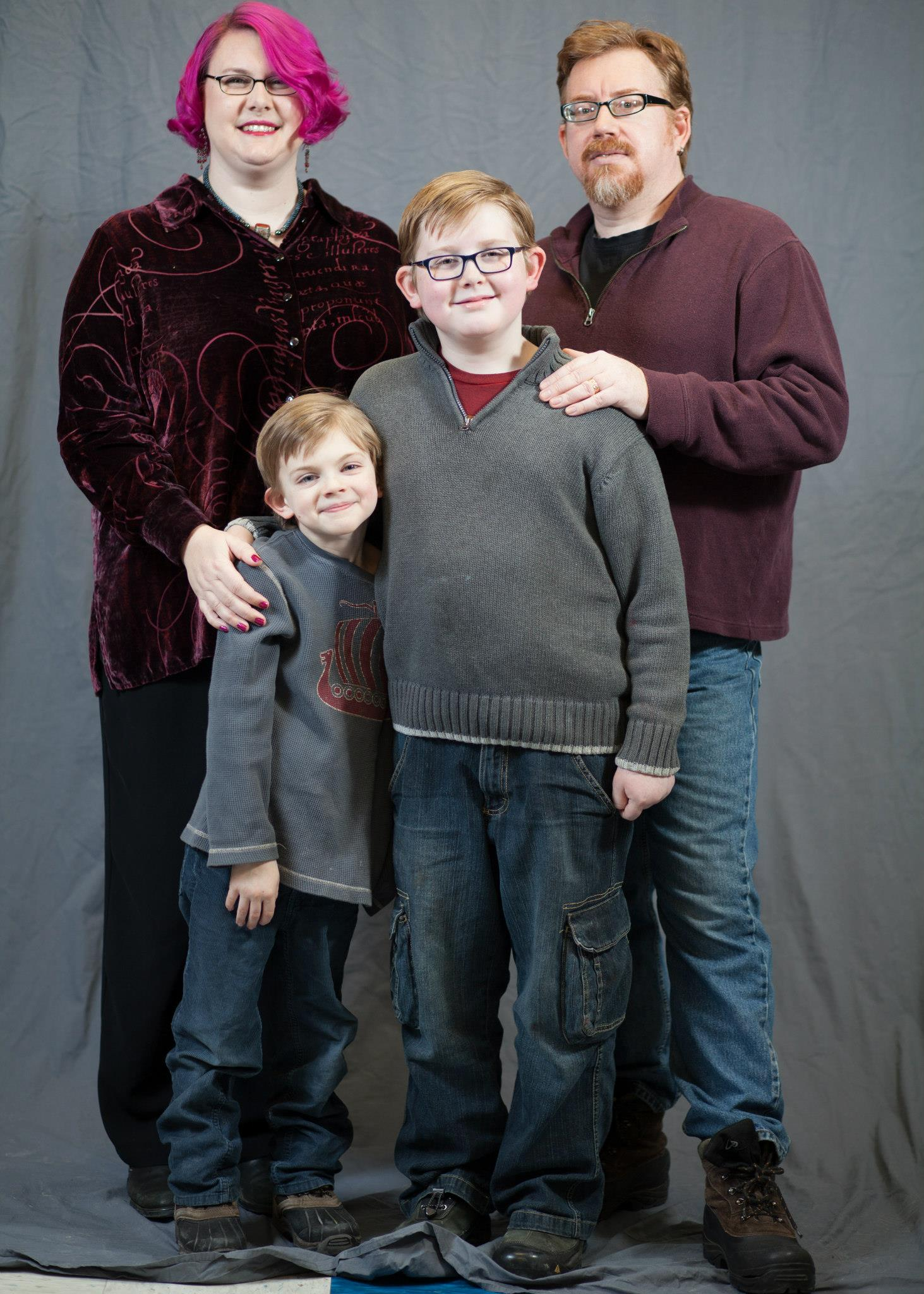 Official Family Shot – Jess Banks (Top Left), Cam Banks (Top Right), Griffin (Lower Left), Connor (Lower Right).