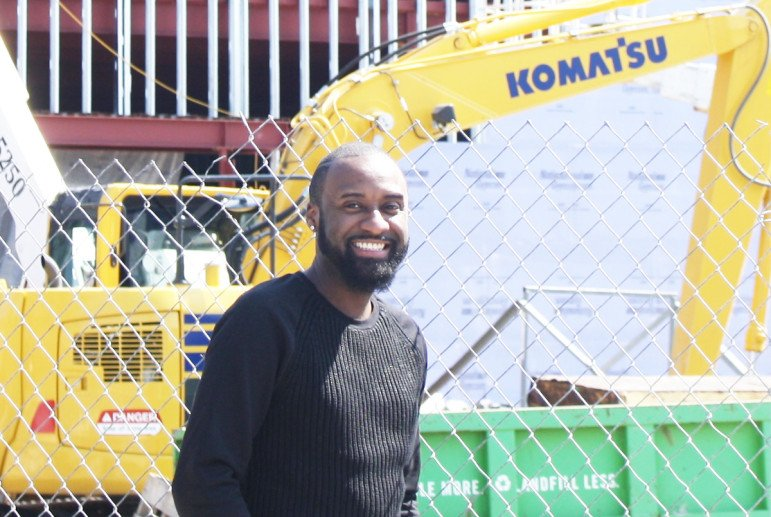 "Photo by James L. Stroud, JrRaynardo Williams at ""Friendship' construction site"