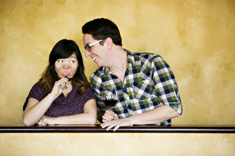 Sheena Janson (left) and Max Wojtanowicz (right) in Fruit Fly: The Musical.