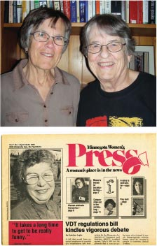 Nearly 1,000 profile stories of women have been shared in the Minnesota Women's Press. The first was of comedienne Merrilyn Belgum, in Volume 1, Issue 1, April 16, 1985. Belgum died in May 2014 at age 89.