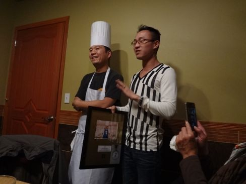 Pagoda owner Justin Lin with chef Yuyang Huang