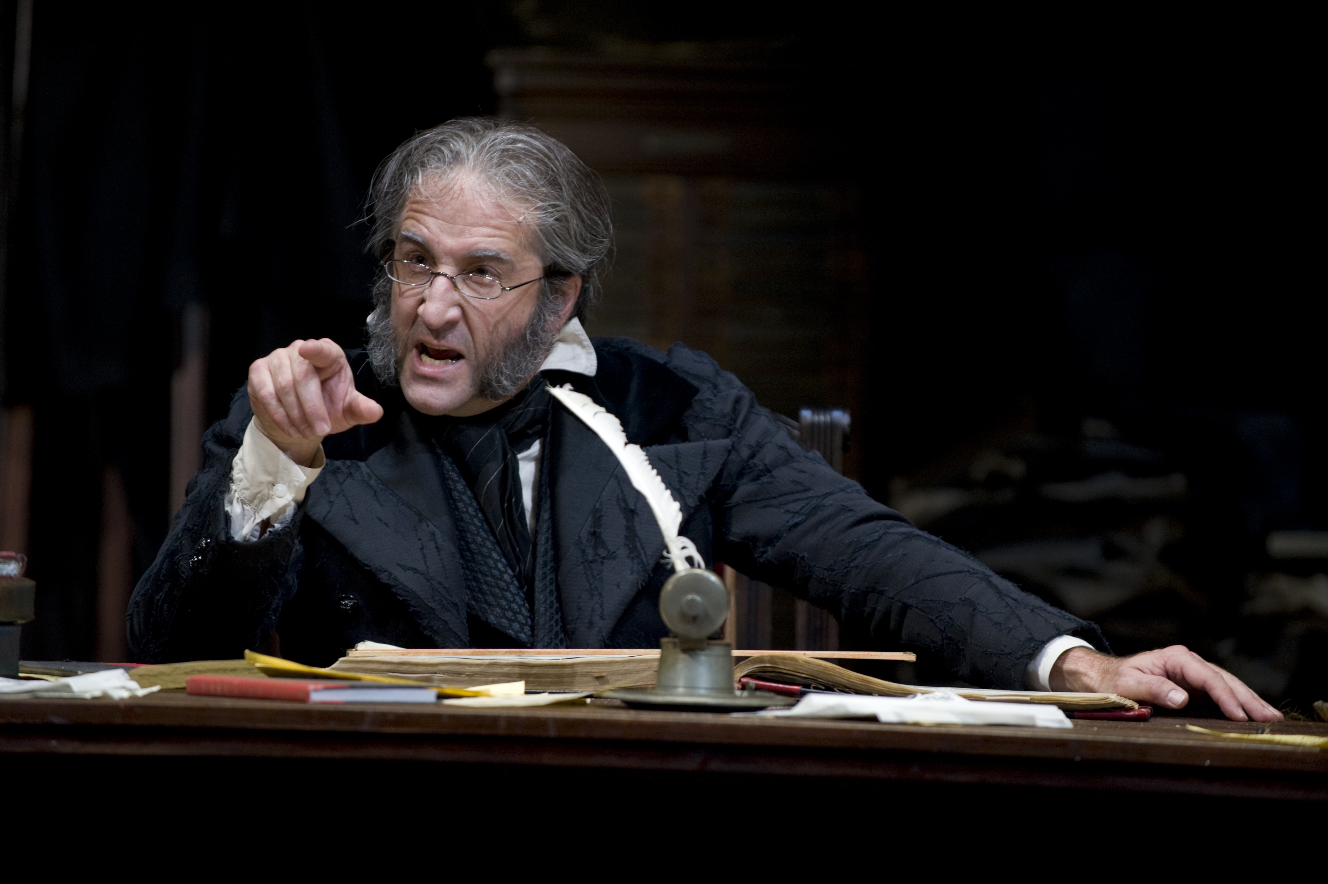 J.C. Cutler in A Christmas Carol. Photo by Michael Brosilow, courtesy Guthrie Theater.