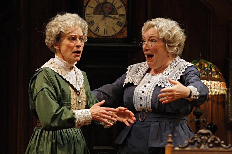 Sally Wingert (left) and Kristine Nielsen in Arsenic and Old Lace. Photo by Michal Daniel, courtesy Guthrie Theater.