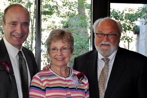 "From left, Art Rolnick (2010 ""Nancy"" Award recipient), Jane Kretzmann (2010 ""Nancy"" Award recipient), George Latimer (Photos courtesy of Minnesota Early Childhood Funders Network)"