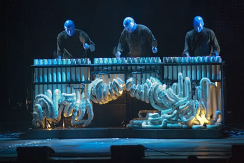 Blue Man Group perform at the Orpheum Theatre on Friday, June 15.