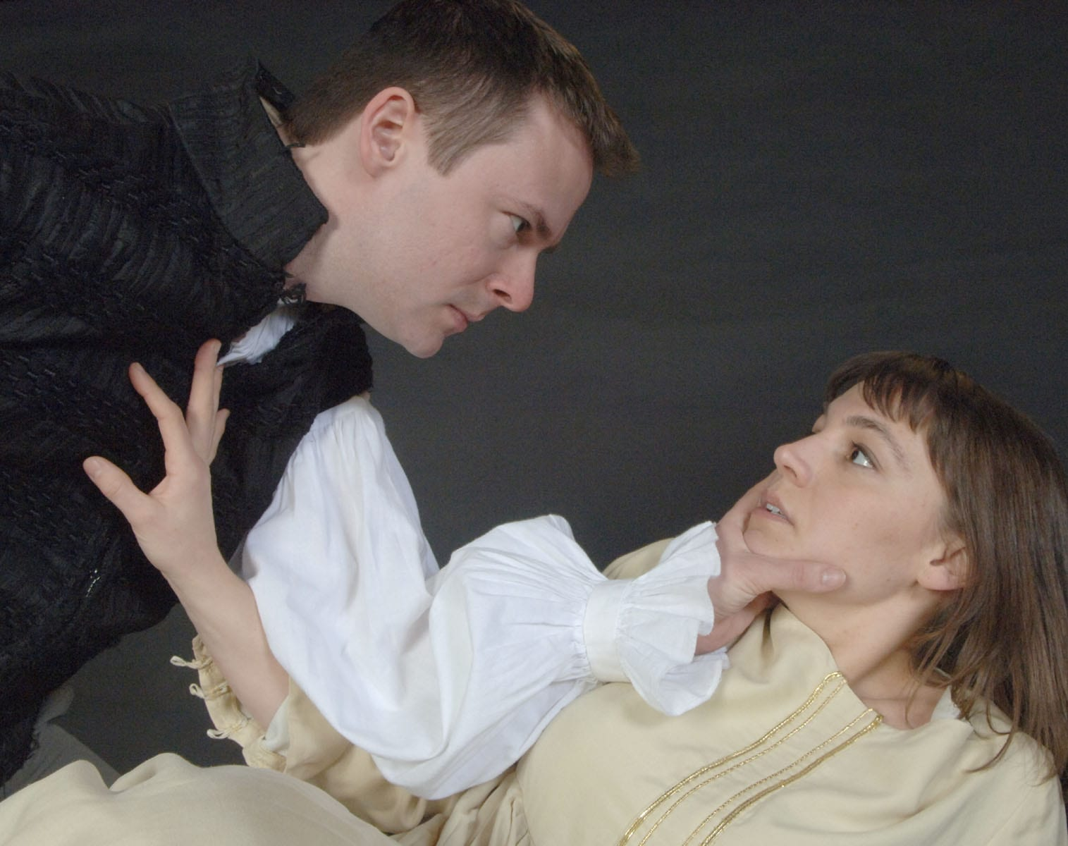 Clarence Wethern and Lindsay Marcy in Hamlet. Photo ©2011 Act One, Too, Ltd., courtesy Theatre in the Round.