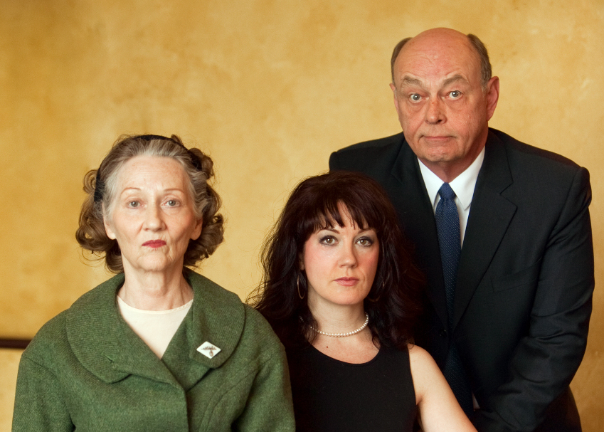 l-r: Barbara Kingsley, Carolyn Pool, and James Cada. Photo by Lauren B. Photography, courtesy Illusion Theater.