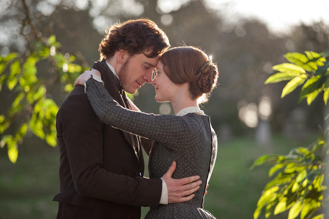 Michael Fassbender and Mia Wasikowska in Jane Eyre. Image courtesy Focus Features.