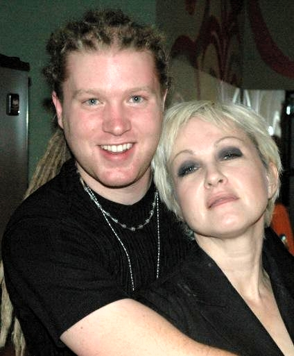 Ryan Liestman and Cyndi Lauper. Photo courtesy The Rule.