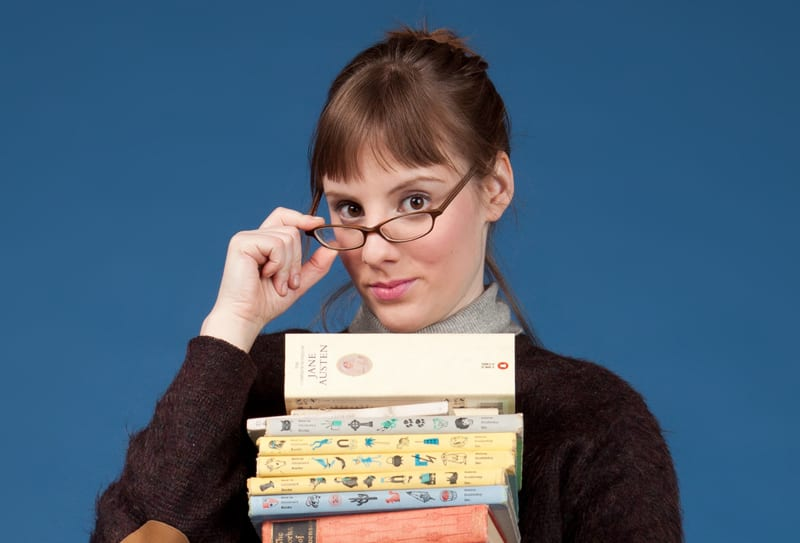 Anna Sundberg as the eponymous Sexy Librarian. Photo courtesy Joking Envelope.