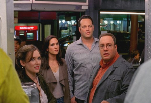 Winona Ryder, Jennifer Connelly, Vince Vaughn, and Kevin James in The Dilemma.