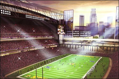 Artist's Rendering of proposed Vikings  Stadium