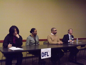 DFL House Candidates for Dist. 58B, (left to right) Nancy Pomplun, Terra Cole, Ian Alexander and Raymond Dehn