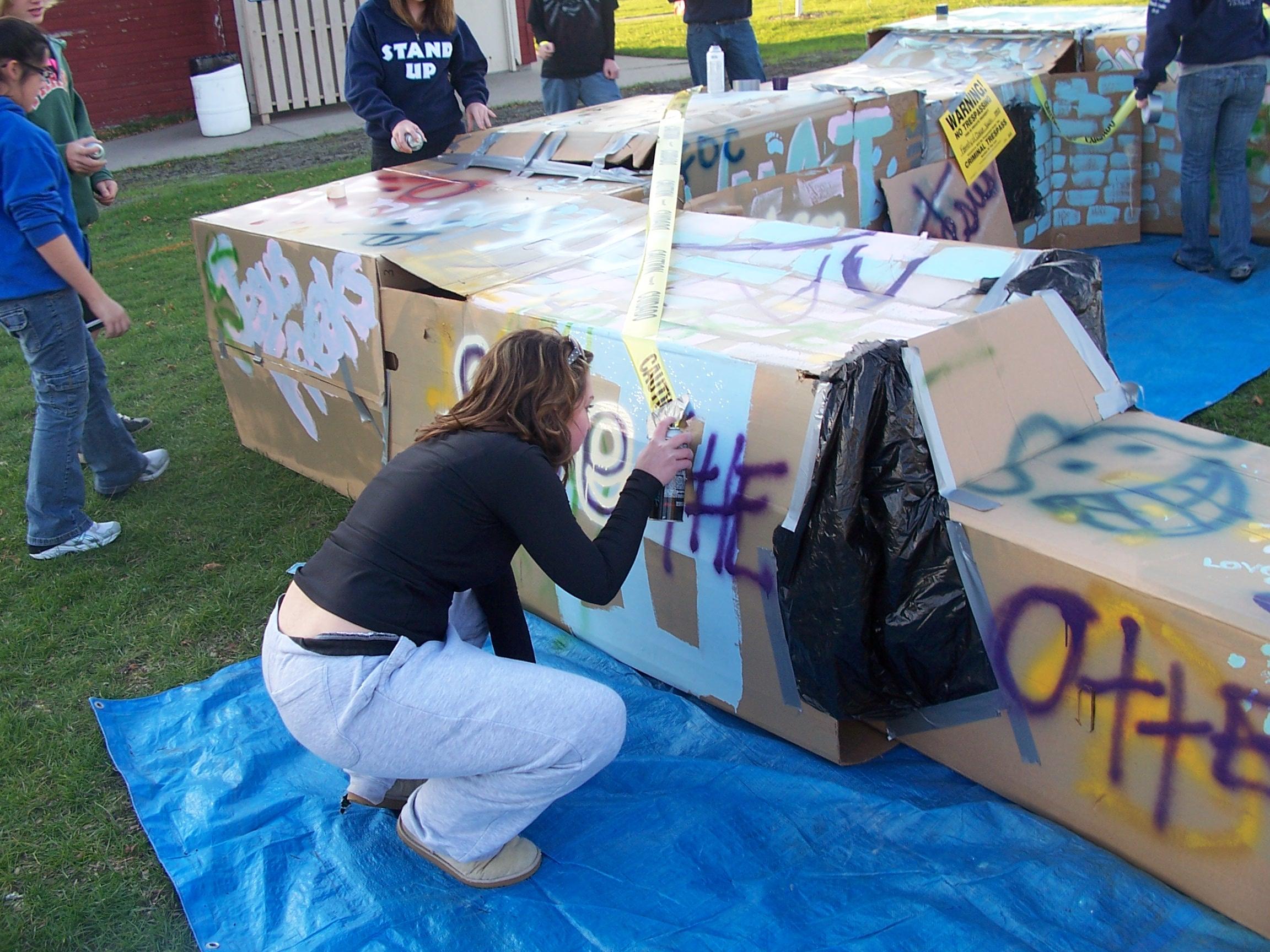 Cardboard Box City: Youth pledge to combat homelessness ...