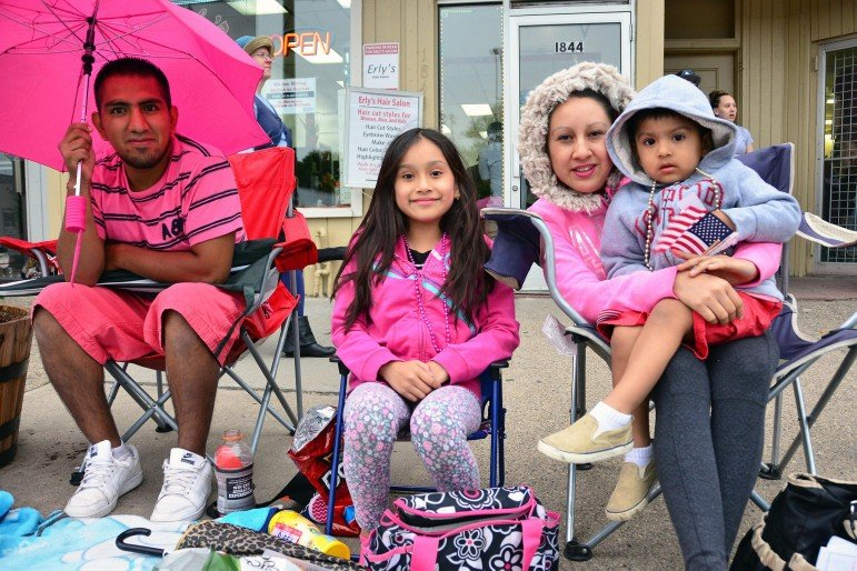 Family in pink