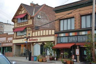 """The Refinery salon and spa http://refinerympls.com location once housed Dayton's University Store, as indicated by the """"ghost sign"""" that remains on the side of the building. Photo by Bill Huntzicker"""