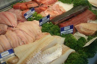Fresh fish fillets are popular with customers.