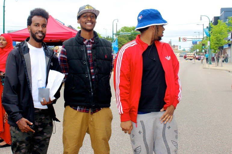 Minneapolis residents Zakariye Hassan and Yusuf Yusuf assisted the event with their friend, Ibrahim Hashi, who lives in Toronto, Canada.