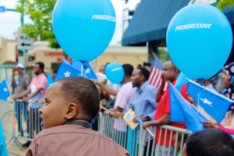 Progressive balloons floated around the Somali Independence Day festival.