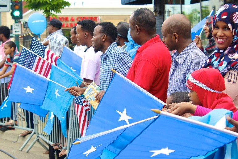 Event organizers handed out Somali flags for attendees to wave.