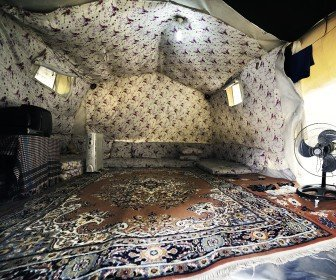 The Souleyman tent. Photo by Osama Esid