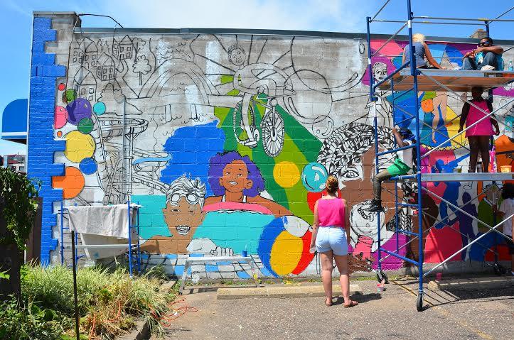 scaffold mural
