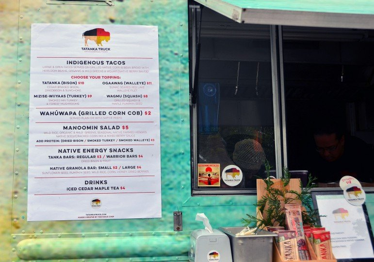 The Tatanka Truck menu
