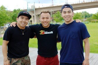 The Hmong Breakers Leadership Coalition core members: Cheng Xiong, Sachoua Vang,and Sean Lee.