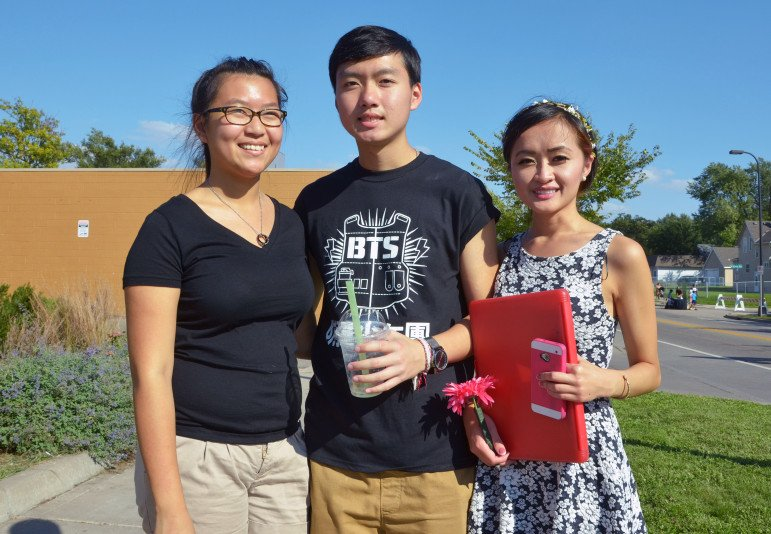 three young adults