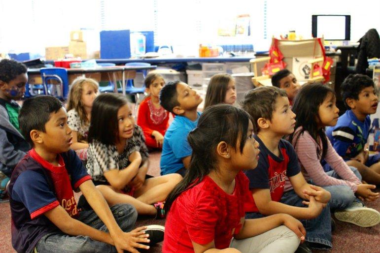 students sitting classroom