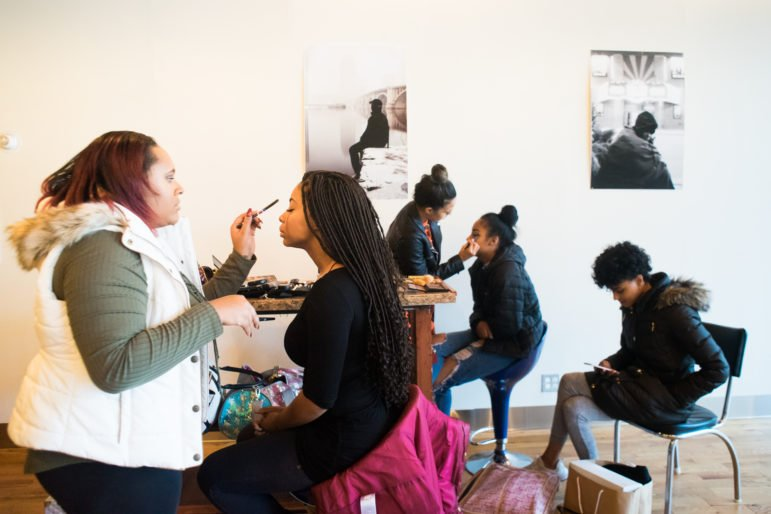 Stylists and models prepare for the clothing line Bold Manière's event TRAP, held at New Rules on Nov. 27.