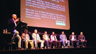The panelists at the 'school-to-prison pipeline' public dialogue. Photo courtesy of Charles Hallman/MSR News.