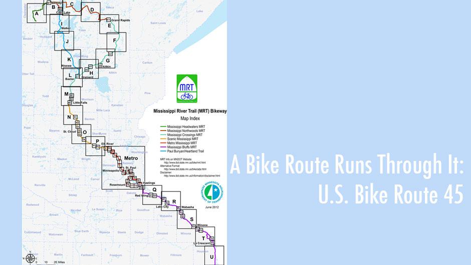A Bike Route Runs Through It US Bike Route Twin Cities - Us bike route map