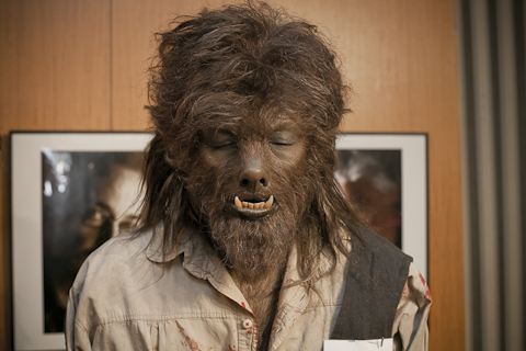 Wolfman hairy face makeup