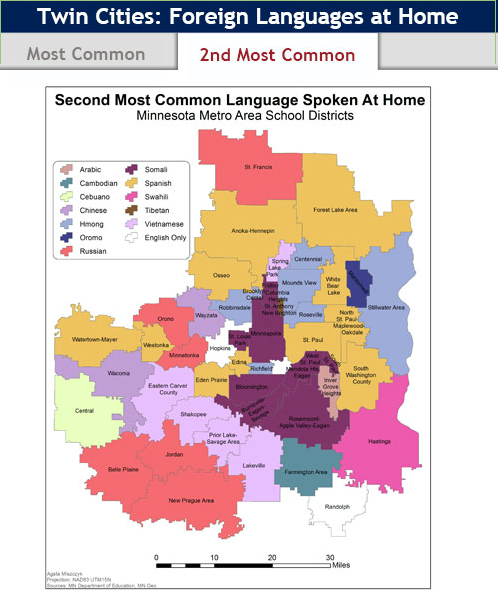 Map of the week Diversity in schools  Twin Cities Daily Planet