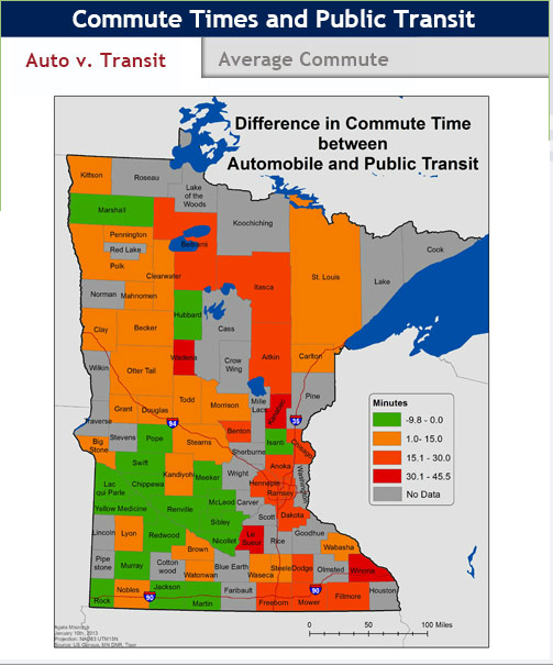 Map Of The Week Who Commutes In Minnesota And How Twin Cities - The map of minnesota