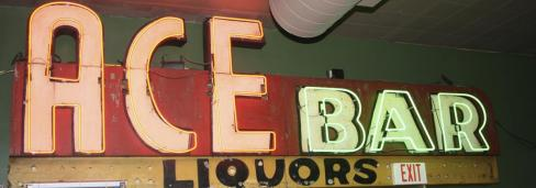 Ace Bar sign