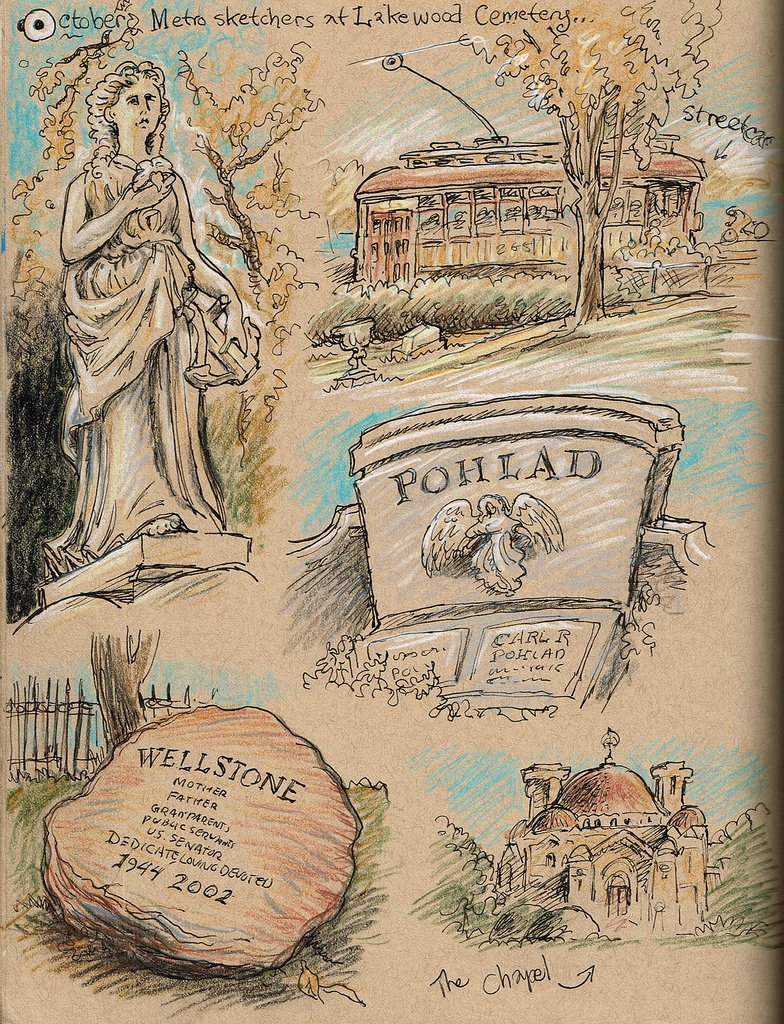 Memorial Day Sketches Twin Cities Cemeteries Twin Cities Daily Planet