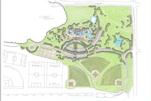 St paul s como park may gain big pool lazy river for Swimming pool site plan